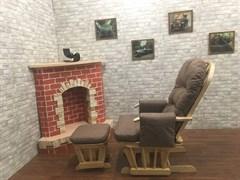 Кресло-качалка «Arsiel» с пуфом